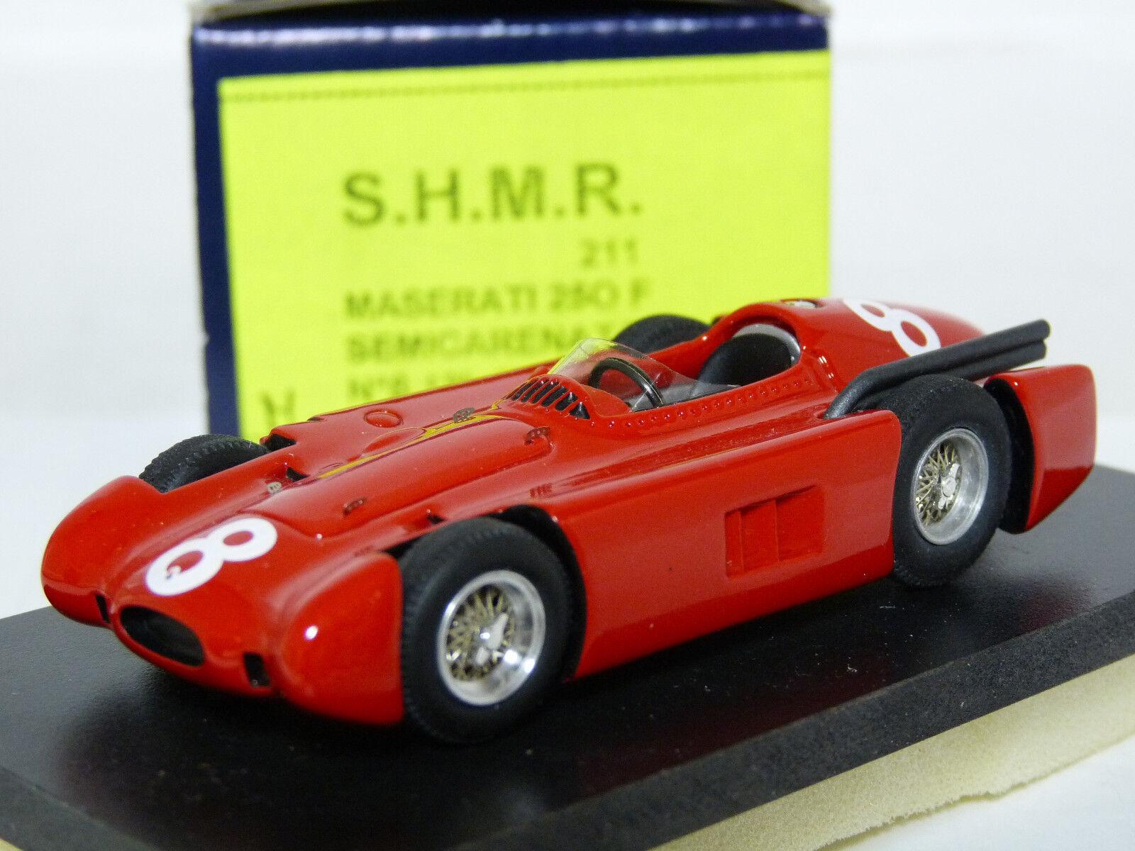 S.H.M.R. 211 1 43 1956 MASERATI 250 F semicarenata Handmade Résine modèle de voiture