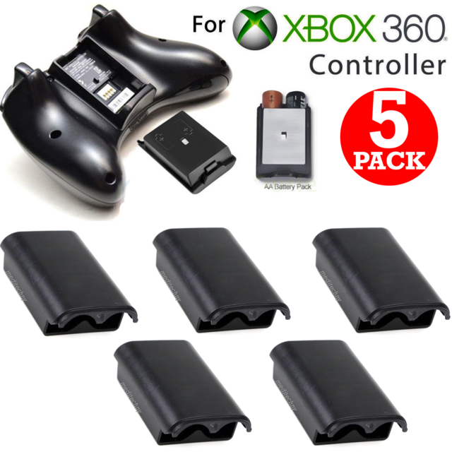 5pcs AA Battery Holder Shell Back Cover Case for Xbox 360 Wireless Controller