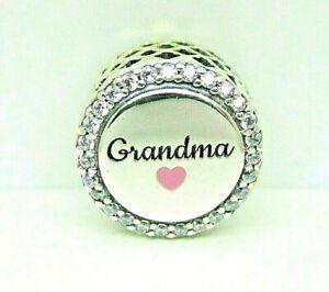 Authentic Pandora Eng792016cz 53 Grandma Charm 5700302905229 Ebay