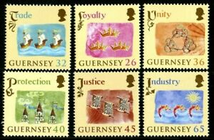 GUERNSEY-2004-800th-ANNIVERSARIES-SET-OF-ALL-6-COMMEMORATIVE-STAMPS-MNH