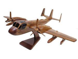 Grumman-OV-1-RV-1-Mohawk-Army-Wood-Wooden-Observation-Military-Airplane-Model