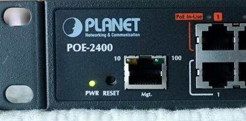 Planet POE-2400 V2-24-Port IEEE 802.3af PoE Injector Hub w Rack ears