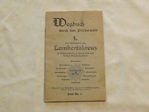 VINTAGE-GERMAN-GERMANY-1950S-WEGBUCH-DURCH-DEN-PFALZERWALD-TOURIST-MAP-BOOKLET