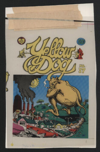 "1970s Original Color Overlays 4 for ""Yellow Dog #17"" Post Card, The Print Mint"