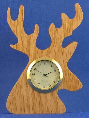 Hand cut w// choice of insert Deer Mini Clock
