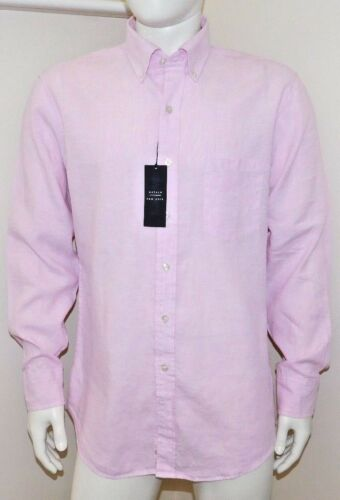 Oxford NY Men/'s Solid-Button Down Collar Linen Dress Shirt custom fit 4 colours