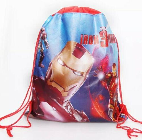 Iron Man 3 Enfants Natation Sac à cordon de dessin animé école Chaussure PE