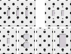 White-with-Black-Polka-Dots-Light-Switch-Covers-Home-Decor-Outlet