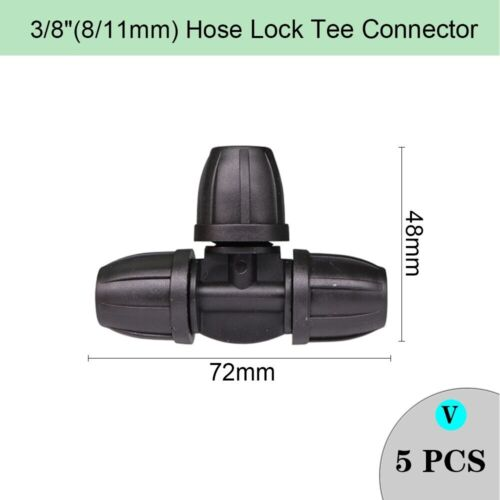 Irrigation Hose Sprinkler Connector Double Barb Tee Elbow Eng Plug 8//11 4//7mm