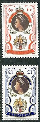 U/m Set Gibraltar 1977 Silver Jubilee 25 Years Regency Of Queen Elizabeth Ii Gibraltar