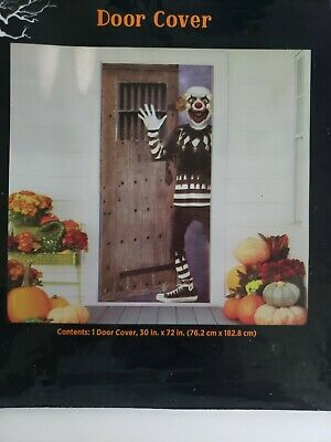 """Halloween Light Up Witch Door Cover 30/"""" x 72/"""" party decor trick or treat Spooky"""