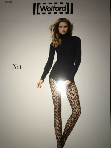 Medium 19201-06 Black Size Wolford Net Tights Color
