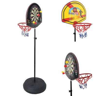Audace Basket Canestro + Freccette A Piantana Gioco Per Bambini Altezza Fino 168cm