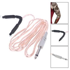 Metallkopf-Transparent-Mikrofon-Clip-Kabel-TattooHook-Line-Tattoo-Schalter-ML