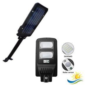 LAMPIONE-STRADALE-LED-40W-CON-STAFFA-A-MURO-50-CM-PANNELLO-SOLARE-FOTOVOLTAICO-T