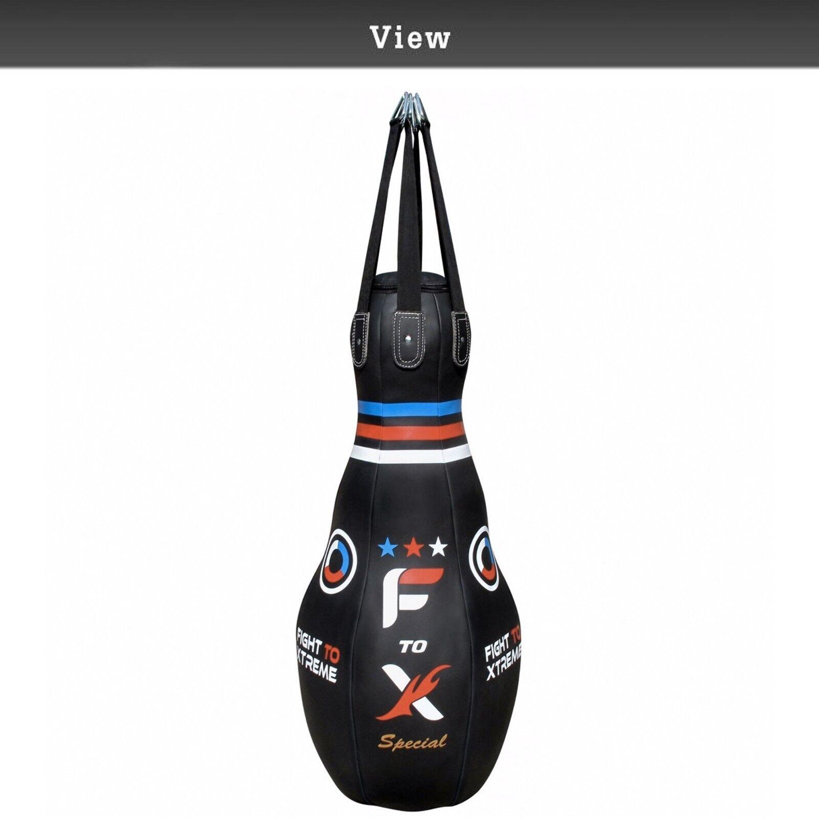 4ft Boxsack Tropf Bowling Kickboxen Schwer Gefüllte Mma Mma Mma Muay Thai Training 1979ed