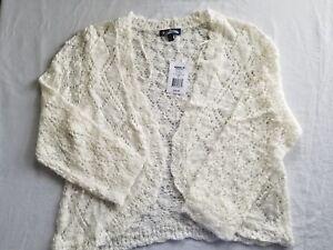 Fresh Man Takeout Girls/' Drape-Front Cardigan Sweater Size XL