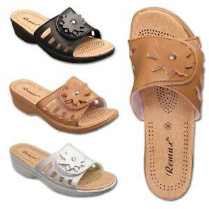 Womens-Ladies-Low-Heel-Wedge-Comfort-Sandals-Slip-On-Mules-Size-UK-3-4-5-6-7-8