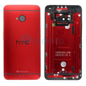Original-HTC-One-M7-Akkudeckel-Rot-Deckel-Schale-Battery-Gehaeuse-Back-Cover-Red