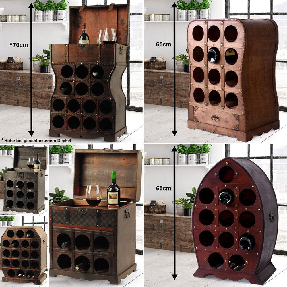 Tonneau de Vin Design Support étagère Support 6-18 bouteilles compartiments bois coffres Placard