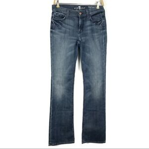 Inseam34 Bejeweled Jeans Blue Women 7 Tasche taglia Bootcut Mankind All 28 For fqwXSxOP4