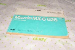 1991 mazda 626 owners manual