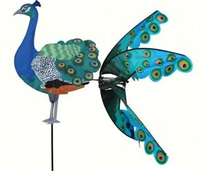 Premier-Designs-35-inch-Peacock-Yard-Garden-Flying-Spinner-PD25368