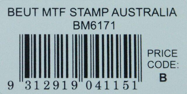 BEUTRON Iron On Motif Applique Australia Stamp BM6171 Sydney Opera House NEW