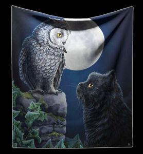Couvre-lit-CHATS-amp-CHOUETTE-PURRFECT-Wisdom-DE-LISA-PARKER-fantasie