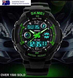 Mens-Boys-Waterproof-Digital-Shock-Sports-Wrist-Watch-Skmei-G-LED-Quartz-ATM