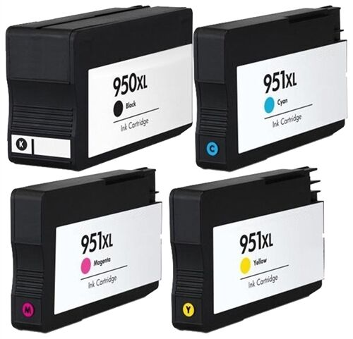 4 HP ink cartridges for HP 950 XL 951OfficeJet Pro 8100 8600 With Chip
