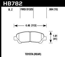Ceramic Front Disc Brake Pad For 99-06 Audi TT//TT Quattro Hawk HB272Z.763A Perf