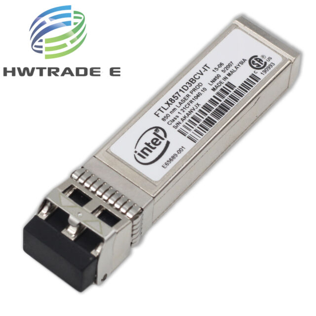 Intel E10GSFPSR FTLX8571D3BCV-IT E65689-001 SFP Transceiver For X520-DA2//SR2