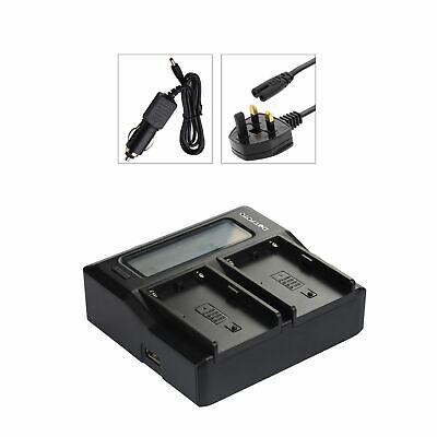 Dual Battery Charger for Canon LP-E4N LC-E4//E4N//E19 UK Mains LP-E19 replaces