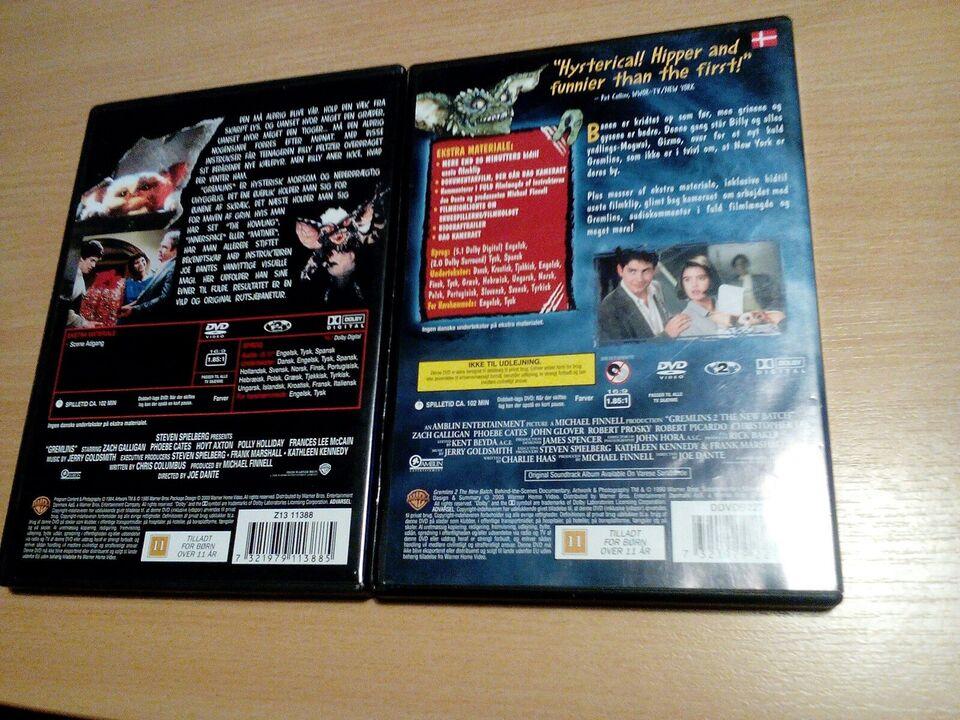 Gremlins 1 og 2, DVD, andet