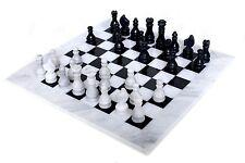 RADICALn 16 Inches Handmade White and Black Full Marble Chess game Set