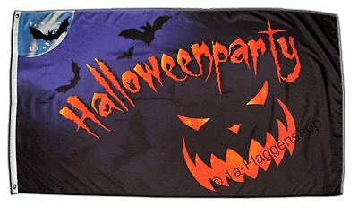 Fahne Halloween Party 2 Flagge  Hissflagge 90x150cm