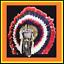 Genuine-Native-American-Navajo-Indian-Headdress-36-inch-CHOCTAW-red-black-white