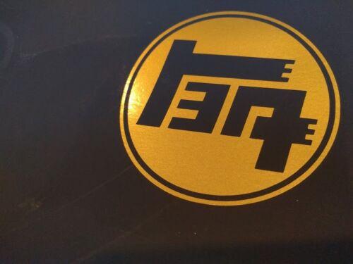 "2 pack Toyota TEQ Logo Vinyl Decal Sticker Gold Metallic 6/"" x 6/"""