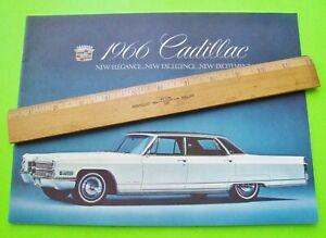 1966-CADILLAC-DLX-COLOR-CATALOG-Brochure-FLEETWOOD-DeVille-CONVERTIBLE-Calais