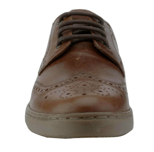Red Tape Men/'s Girvan Leather Casual Brogue Shoes Tan