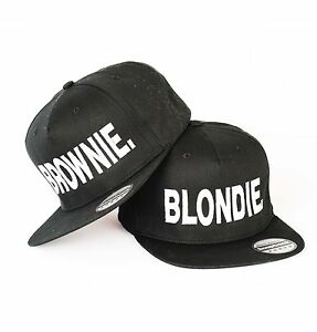 4a4378d71 Details about BLONDIE AND BROWNIE SNAPBACK PAIR FASHION EMBROIDERED RAPPER  CAPS HIP-HOP HATS