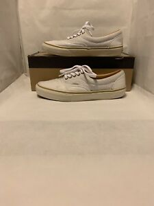 Details about Vans CA (California) Era Reissue CA White Perforated Leather Size 9.5 Used
