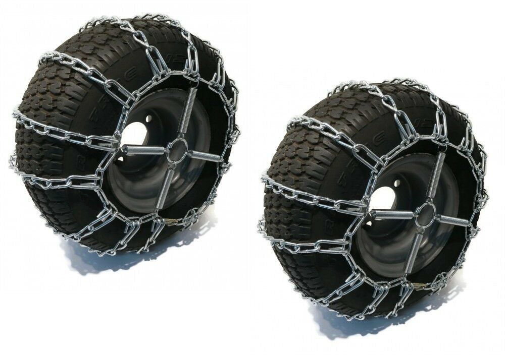 PAIR 2 Link TIRE CHAINS 18x9.50x8 for Sears Craftsman Lawn Mower Tractor Rider