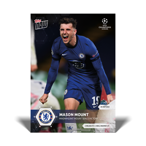 Mason Mount Chelsea UCL Topps Now 2021 Card #74 UEFA Champions League