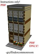 Lego Custom Modular Brownstone MOTEL City Town PDF Building INSTRUCTIONS ONLY