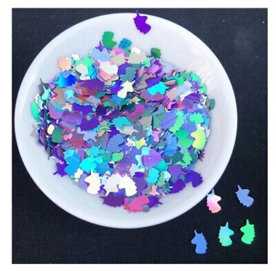 600pcs Mermaid Shape Loose Glitter Sequins Paillettes Craft Resin Slime Decoden
