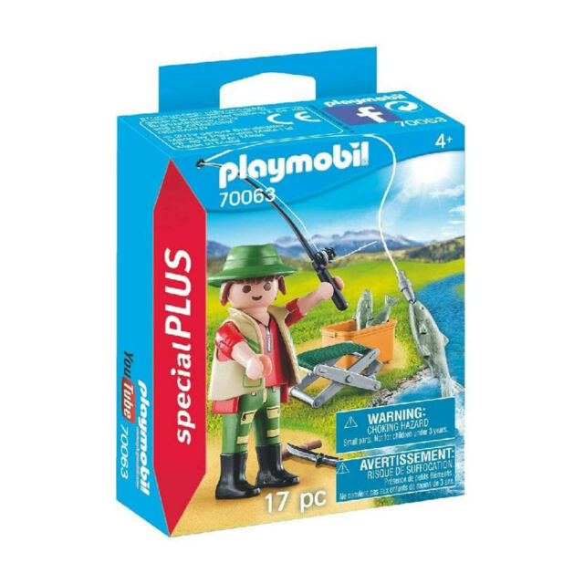 PLAYMOBIL 70063 Special Plus Fisherman Action Figure for sale online