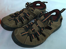 Clarks Fisherman 79263 Adjustable Brown Leather Comfort Sandals Shoes Men's 7 M