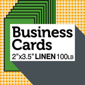 1000 Linen Paper Custom Business Cards Natural Color Free